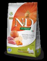 N&D GF - PUMPKIN BOAR&APPLE., ADULT MINI - Пълноценна храна за кучета от дребни породи в зряла възраст с глиганско, тиква и ябълка - 0.8 кг.