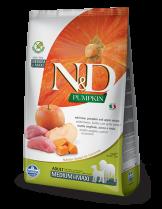 N&D GF - PUMPKIN BOAR&APPLE ADULT MEDIUM&MAXI - Пълноценна храна за кучета от средни и едри породи в зряла възраст с глиганско, тиква и ябълка - 12 кг.