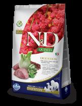 N&D - QUINOA DIGESTION LAMB - Пълноценна храна за кучета в зряла възраст с агнешко, киноа, копър и артишок - 2.5 кг.