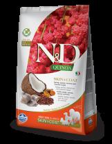 N&D - QUINOA SKIN&COAT HERRING, COCONUT - Пълноценна храна за кучета в зряла възраст с чувствителен стомах и за здрава козина, с херинга, киноа, кокос и куркума - 0.8 кг.