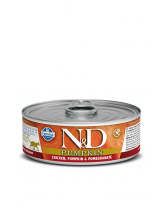 N&D Cat Chicken & Pumpkin & Pomegrante - високо качествена консерва за котки с пилешко месо, тиква и нар - 80 гр.