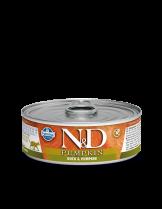 N&D Cat Duck & Pumpkin - високо качествена консерва за котки с патешко месо и тиква - 80 гр.