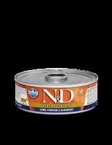 N&D Cat Lamb & Pumpkin & Blueberry - високо качествена консерва за котки с агнешко месо, тиква и боровинки - 80 гр.