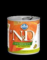 N&D Dog Boar & Pupkin & Apple - високо качествена консерва за израстнали кучета с месо от глиган, тиква и ябълки - 285 гр.