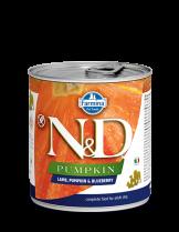 N&D Dog Lamb & Pumpkin & Blueberry - високо качествена консерва за израстнали кучета с агнешко месо, тиква и боровинки 285 гр.