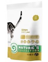 NATURE'S Protection - Kitten - Super Premium суха храна за млади котки до 1 година - с пилешко месо - 0.400 кг.