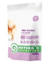 NATURE'S Protection - Mini Junior - Super Premium суха храна за подрастващи кученца от малките породи (до 10 кг.) от 2 до 8 месечна възръст - с пилешко месо - 0.500 кг.