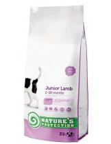 NATURE'S Protection - Junior Lamb - Super Premium суха храна за подрастващи кученца от всички породи от 2 до 18 месечна възръст - с агнешко месо - 2 кг.