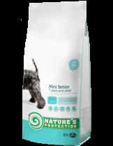 NATURE'S Protection - Senior Mini - Super Premium суха храна за кучета от малките породи (до 10 кг.) над 7 годишна възръст - с пилешко месо - 2 кг.