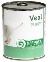 NATURE'S Protection - Puppy Veal - Високо качествена консера  за подрастващи  кучета до 1 година с говеждо месо - 0.200 кг.