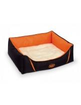 "Nobby - Komfort Bett eckig ""DAVIA"" - Меко, плюшено легло за домашни любимци - 45x40x18 см. - оранжево"