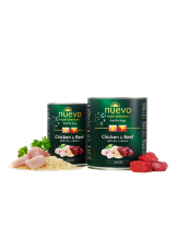 Nuevo Super Premium food for Dogs Junior - Chicken & Beef and Rise - Високо качествена консерва за кучета до 1 година с пилешко и говеждо месо - ориз - 0.800 кг.