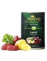 Nuevo Super Premium food for Dogs - Lamb and Patato - Високо качествена консерва за кучета над 1 година с агнешко месо и картофи - 0.400 кг.