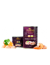 Nuevo Super Premium food for Cats - Chicken & Shsimps - Високо качествена консерва за котки над 1 година с пилешко месо и скариди - 0.400 кг.