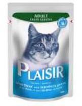 Plaisir Cat Pauch with Trout and Shrimps in gravy - неустоим пауч за котки над 1 година с пъстърва и скариди - хапки в сос грейви - 100 гр.