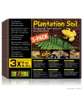 Exo Terra - Plantation soil - натурален субстрат от кокосово влакно за терариуми - 3 х 8.8 л.