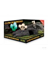 Exo Terra - Glow Mushrooms - укритие за териариумни животни, декорирано със светещи гъби