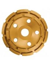 MTX Germany - Диамантен диск за шлайфане, чашкообразен, двуреден - 125 mm.