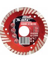 MTX Germany - Диамантен диск за сухо рязане, сегментиран, със защитни сектори - 125 х 22,2 mm.