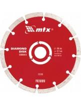 MTX Germany - Диамантен диск PREMIUM за сухо рязане - сегментиран - 115 х 22,2 mm.