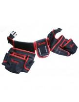 MTX Germany - Двойна чанта - колан за инструменти с 20 джоба и държател за чук