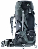 Deuter Раница ACT Lite 40 + 10 - black/granite - 3340115; Обем: - 40+10 литра; - черен гранит