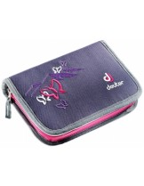 Deuter - Несесер - Pencil Box (SET) incl. Pencils - blueberry butterfly - 3890315 - с химикал - 170 гр.